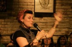 "Performing at the launch of Lishai's Graphic Novel ""Why Birds & Wolves Don't Trade Stones"" - Toronto, ON"